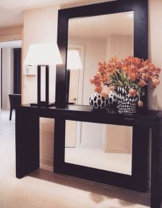 Decorate using oversized mirrors also giant mirror ceiling and vignettes rh pinterest