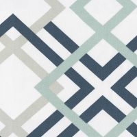 Navy and Gray Geometric Fabric by the Yard | Carousel ...