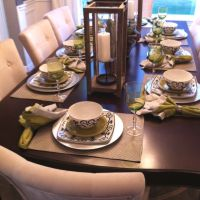 Casual dinner place setting   TableScapes...Table Settings ...