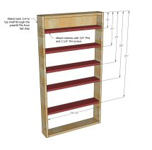 Ana White Build Door Spice Rack Free And Easy Diy