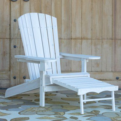 big daddy adirondack chair pico folding australia outdoor coral coast with pull out ottoman and cup holder