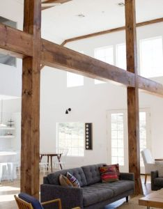 Living and dining area maintains the original beams posts from homes prior existence as  barn located in temecula california also before  after stall gets gorgeous rh pinterest