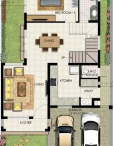 duplex house plan is for single family home that built in two floors having one kitchen and dining the gives villa look feel also ground floor  newsg sobrado pinterest rh