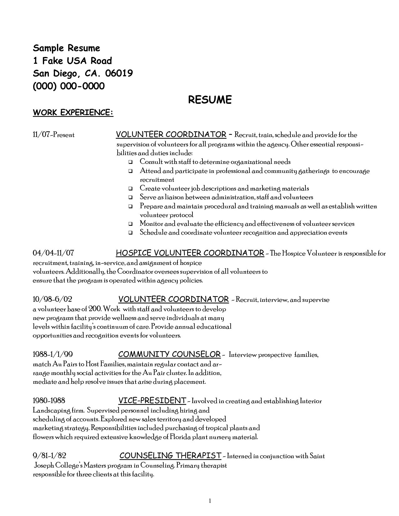 Volunteer Work Resume Volunteer Work On Resume Example Imagesvolunteer Resume
