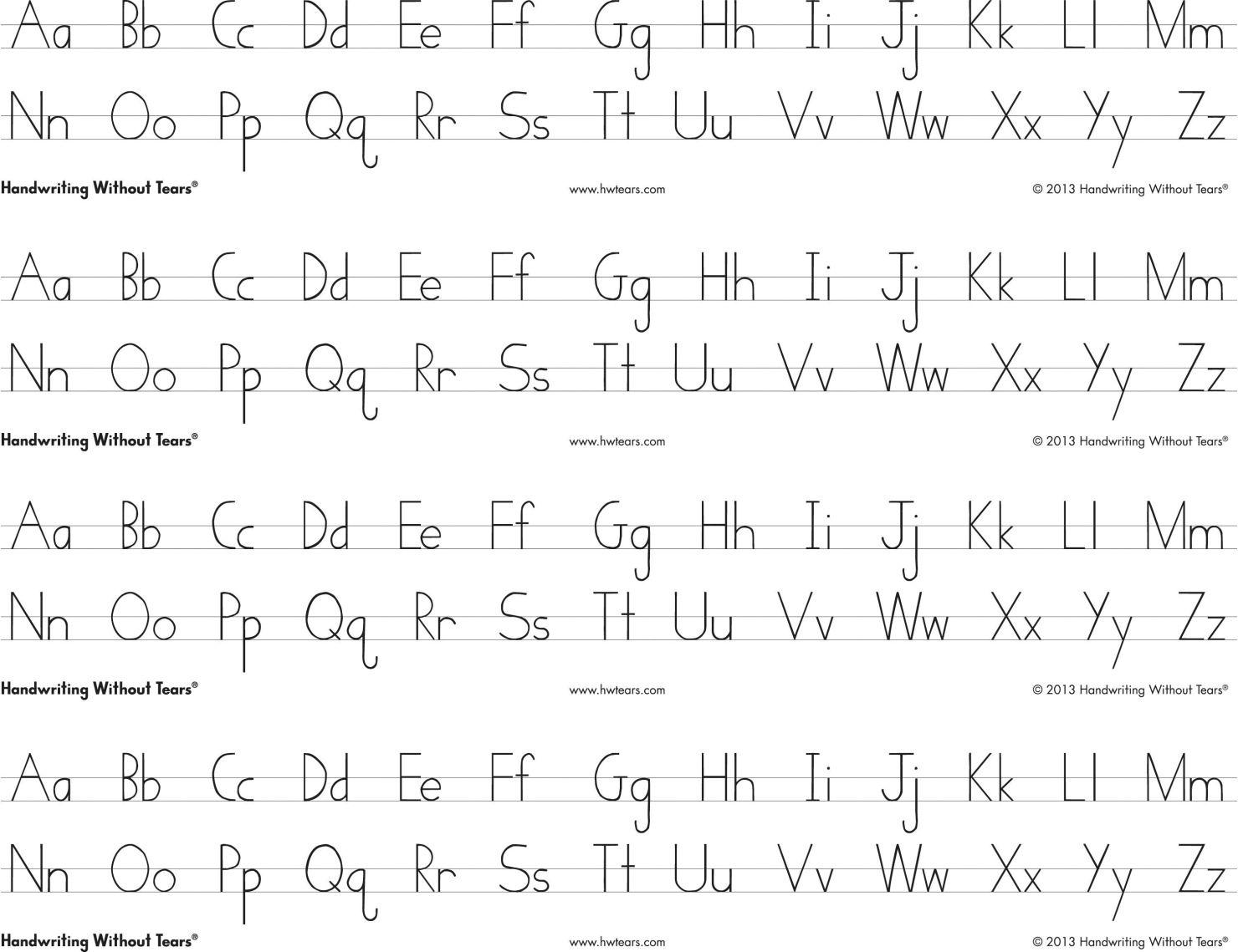 H Ndwrit G Without Te Rs Pr T Lph Bet Desk Sheets 4 Strips Per