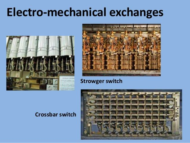 Electro-mechanical Exchanges Strowger Switch Crossbar