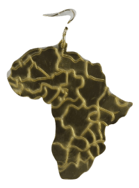 Africa earrings - Large gold mirror map of Africa | Africa ...