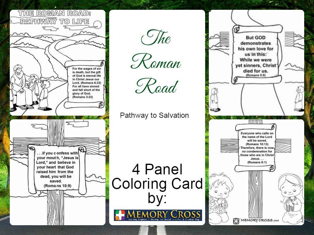 Roman Road 4 Panel Coloring Card Check Store