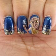 harry potter nail art design