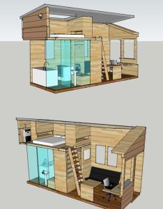 Floor plan interior for  tiny house to be built on an  trailer also combo of last one with this top opening roof and possible deck rh pinterest