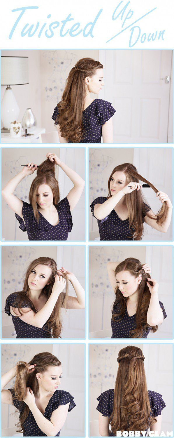 10 DIY Hairstyles For Long Hair Updo Hair Steps And Simple