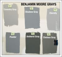 Benjamin Moore Gray Paint Swatches. Coventry Gray HC-169 ...