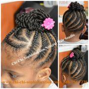 cornrows & twist bun children