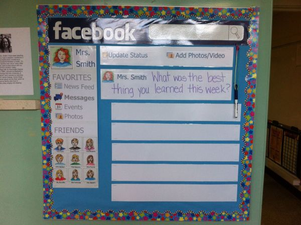 Facebook Bulletin Board. Post Question & Students