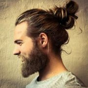 men long hair bun hairstyles