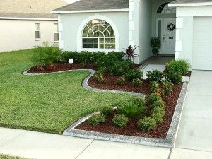 Like The Landscaping Around The Driveway For A Small Front