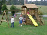 DIY Playhouse Swing Set Plans Plans Free | Playhouse ...