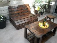Pallet Wood Outdoor Furniture Set | Outdoor furniture sets ...
