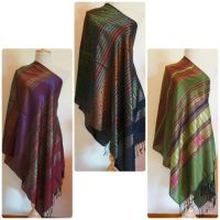 Hand woven 100% thai silk pashmina scarves/shawls in 3 ...