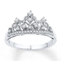 SaySure  Crown ring with cubic zirconia jewelry (SIZE : 8 ...