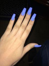 Nailed it... #nails Powder blue coffin nail! | Nails ...