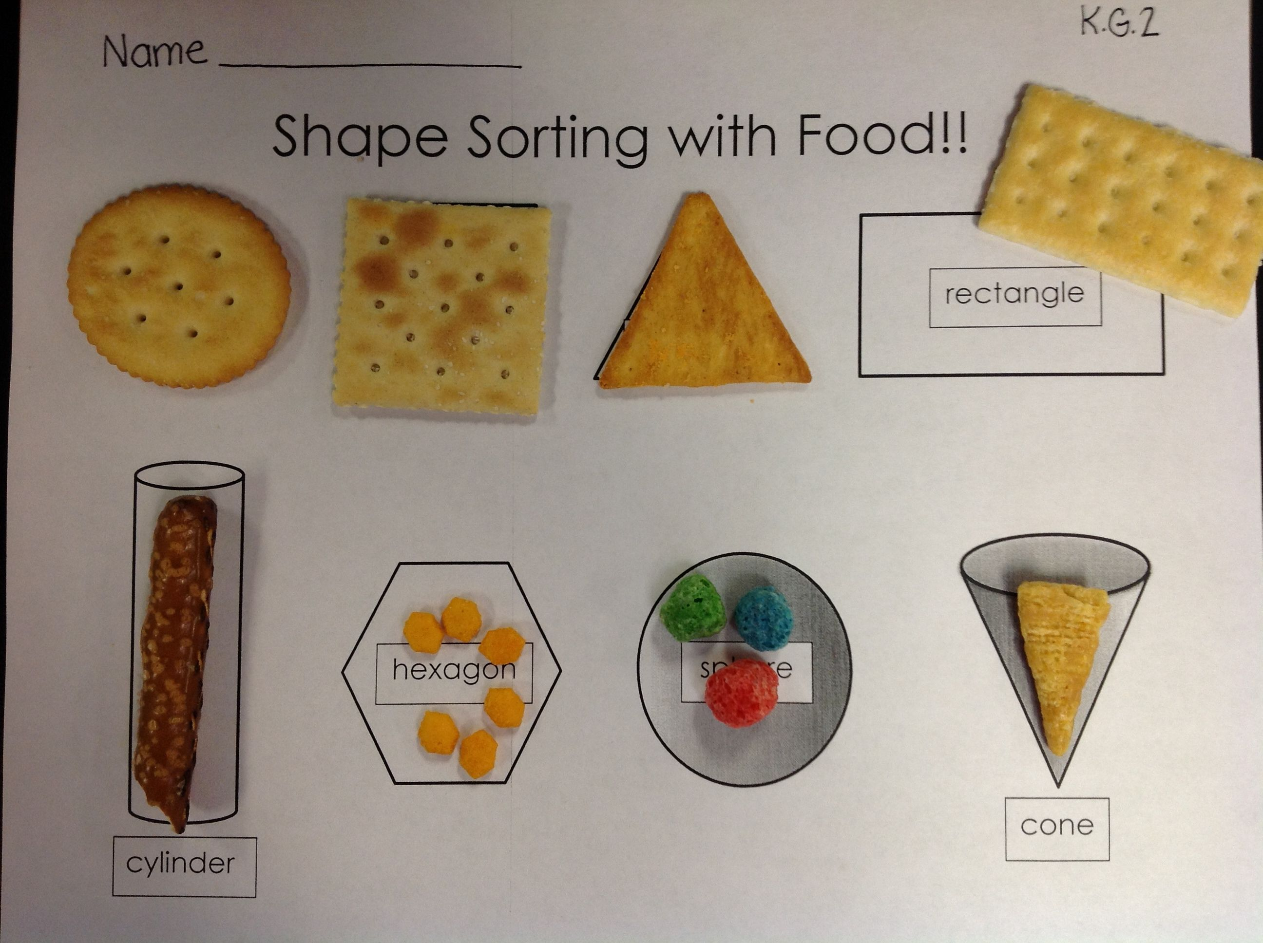 Have Your Shapes And Eat Them Too 2d Amp 3d Shape Activity Guaranteed To Help Your Kids To