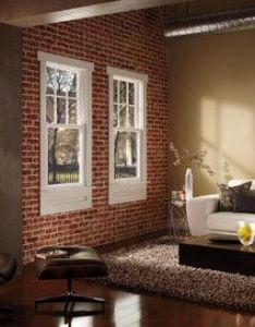 Red brick interior walls with white window trim houzz home design decorating and also rh pinterest