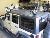 Custom Jeep Rack with Thule Hull-A-Port Kayak Racks | Jeep ...