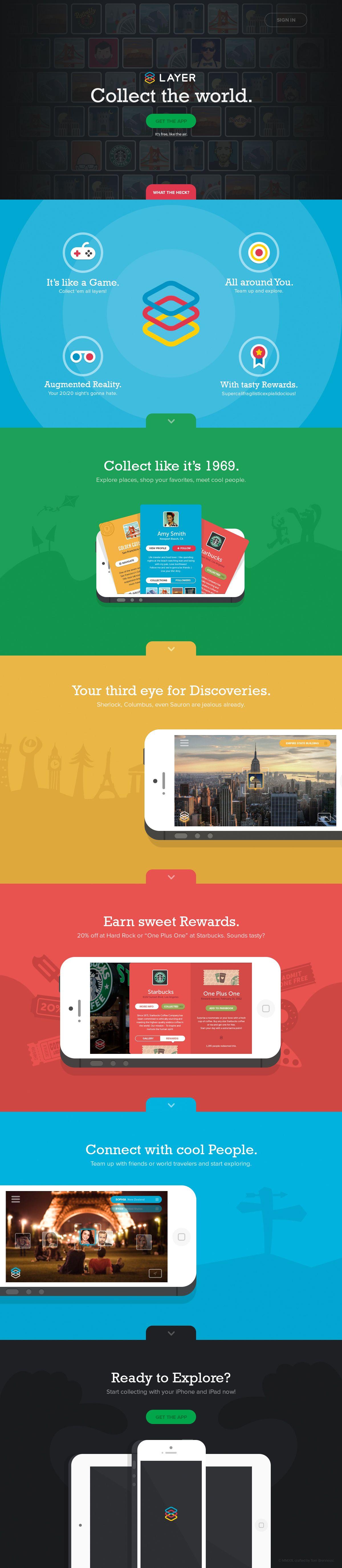 Unique web design layer app webdesign http www also rh pinterest