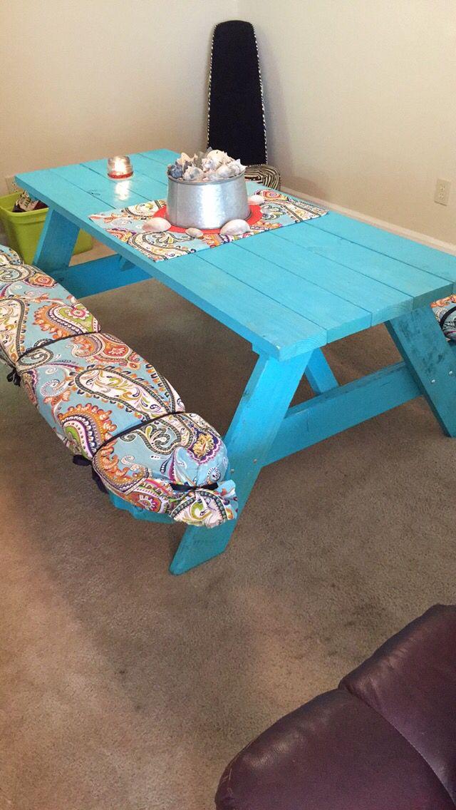 Diy Picnic Table Seat Cushions Diy Picnic Table Seat