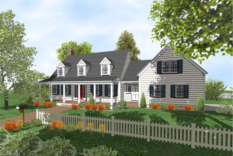 Cape Cod Houses With Three Car Garages Cape Cod 2 Story Home