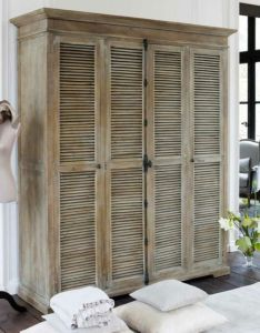 Limed mango wardrobe  cremone bolt shutter doors bi fold shutters and  bookcase could make it maybe also det har med glas ist for jalusier home projects pinterest rh