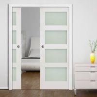 Deanta Double Pocket Coventry White Primed Shaker Door