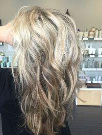 Sandy blonde, light blonde, pale blonde, dimensional