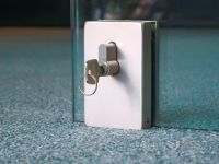 office frameless glass door locks