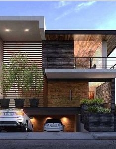 This house is pretty busy but it all works don   particularly like the rock for us wooden ceiling looks great also as casas tem se destacado cada dia mais pelas fachadas modernas  rh pinterest