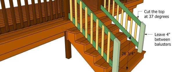 This Step By Step Diy Project Is About How To Build A Porch Stair Railing Building Railings For The Porch Stairs Is The Last Step Of A Complex Backyard