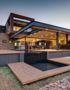 Indoor outdoor living contemporary with open glass wall panels myhouseidea also rh pinterest