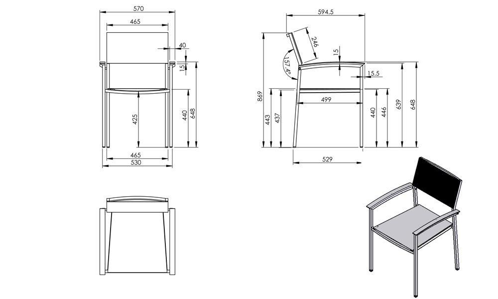Znalezione obrazy dla zapytania armchair dimensions cm