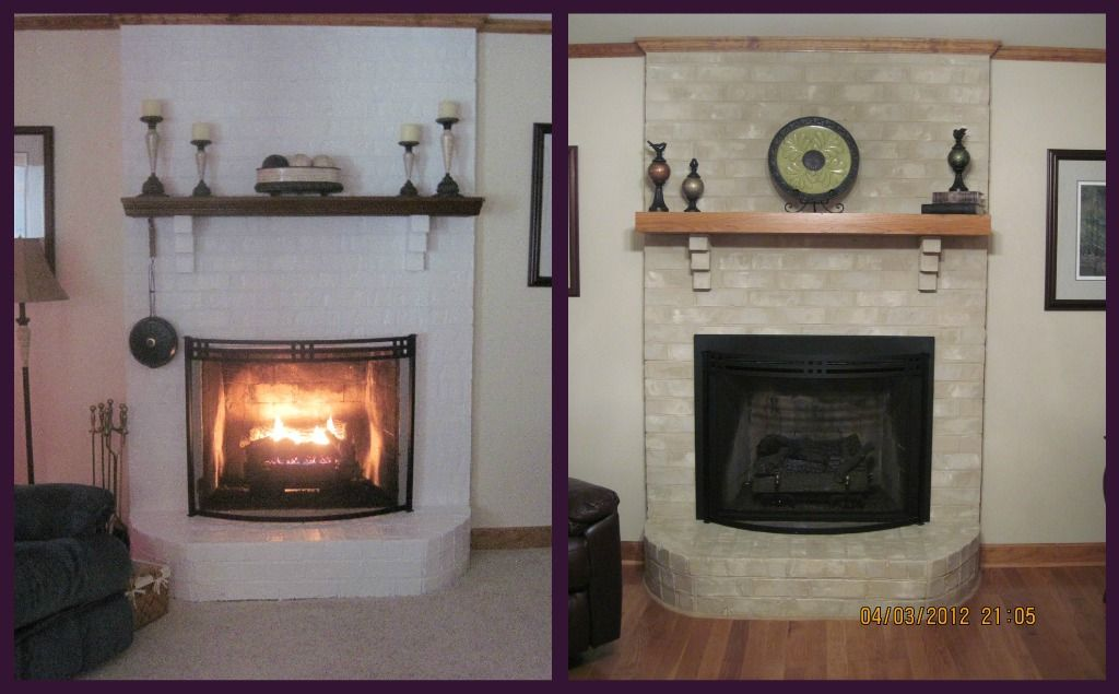 Fireplace Brick Paint Colors Painted Brick Fireplace Ideas Gray | What Brick Fireplace