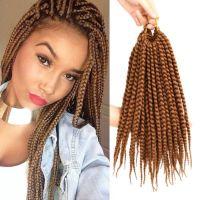 3X Twist Braid Hair Color #30 Box Braids 14'' Crochet