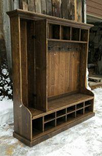 Rustic Reclaimed Hall Tree Locker Bench by EchoPeakDesign ...