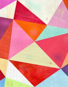 Pink triangle art print also happy and patterns rh pinterest