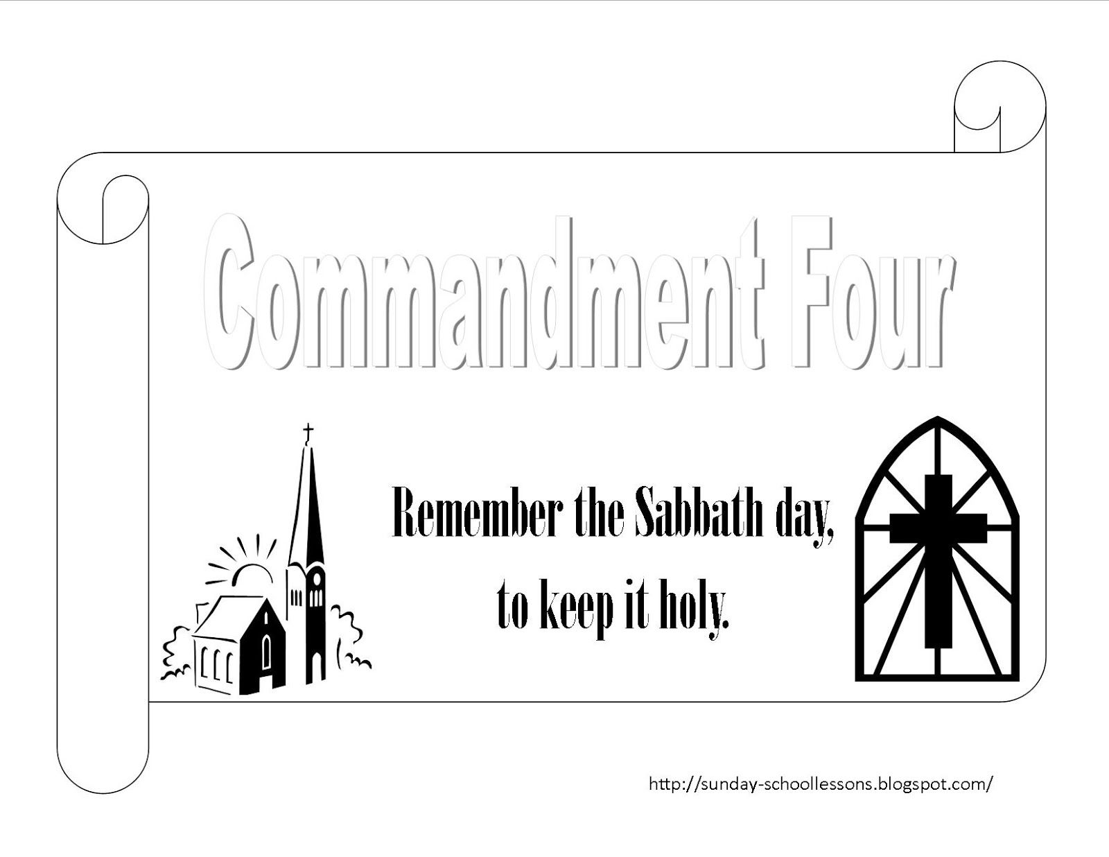 Free 10 Commandments Coloring Page