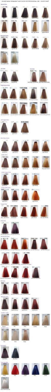 Davinesmaskcolorchart Hair Pinterest Colour Chart Masking ...