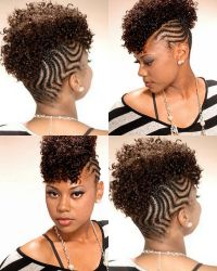 Braids Into A Mohawk Hairstyle   Fade Haircut