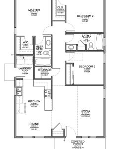 Floor plan for  small house sf with bedrooms and baths also rh pinterest