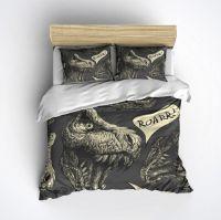 Fleece T-Rex Bedding - Roar! Dinosaur Bed Set, T-Rex Duvet ...