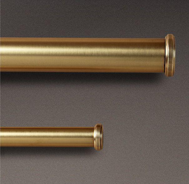 Antique Brass End Caps & Rod Set Mahoney Residence Pinterest