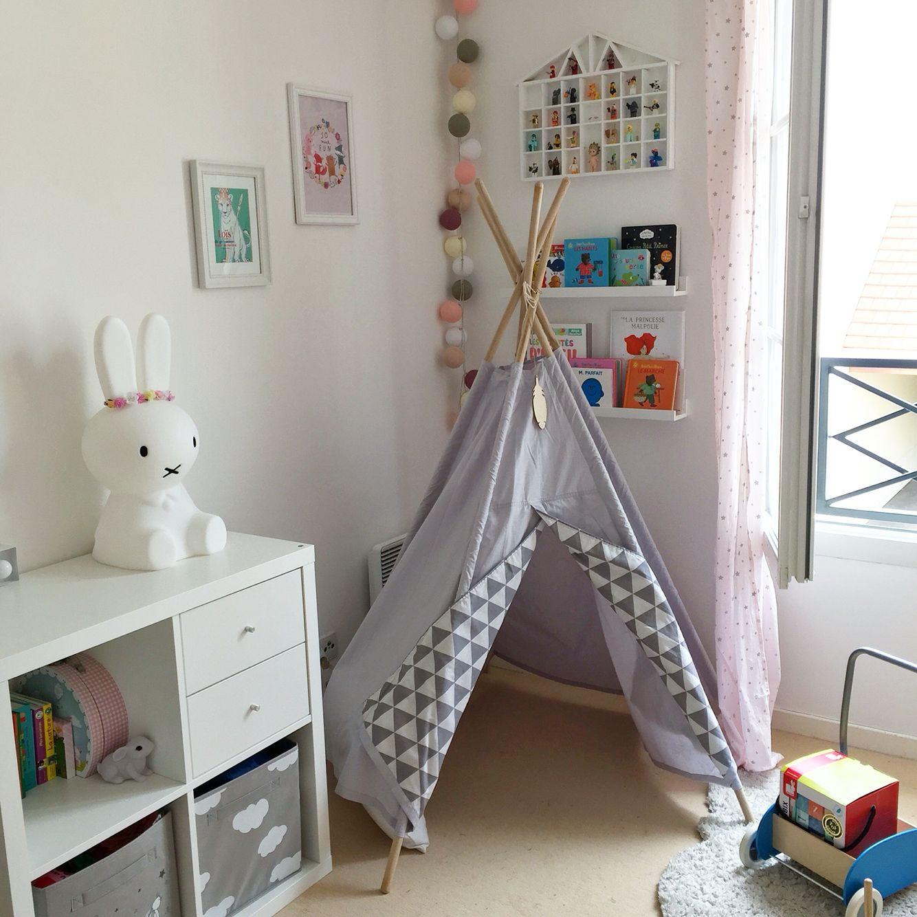 Chambre bb enfant fille Tipi Little Nomad  Meubles Ikea  BABY  KIDS ROOM  Pinterest